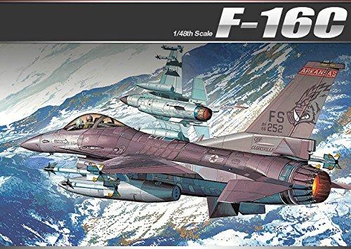 Academy Aircraft 1/48 Scale Plastic Model Kit F-16C Frying Razorbacks #12204 /ITEM#G839GJ UY-W8EHF3196164