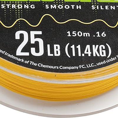 Fladen pesca 150 M Carretes de calidad Cable trenzado (12LB, hilo ...