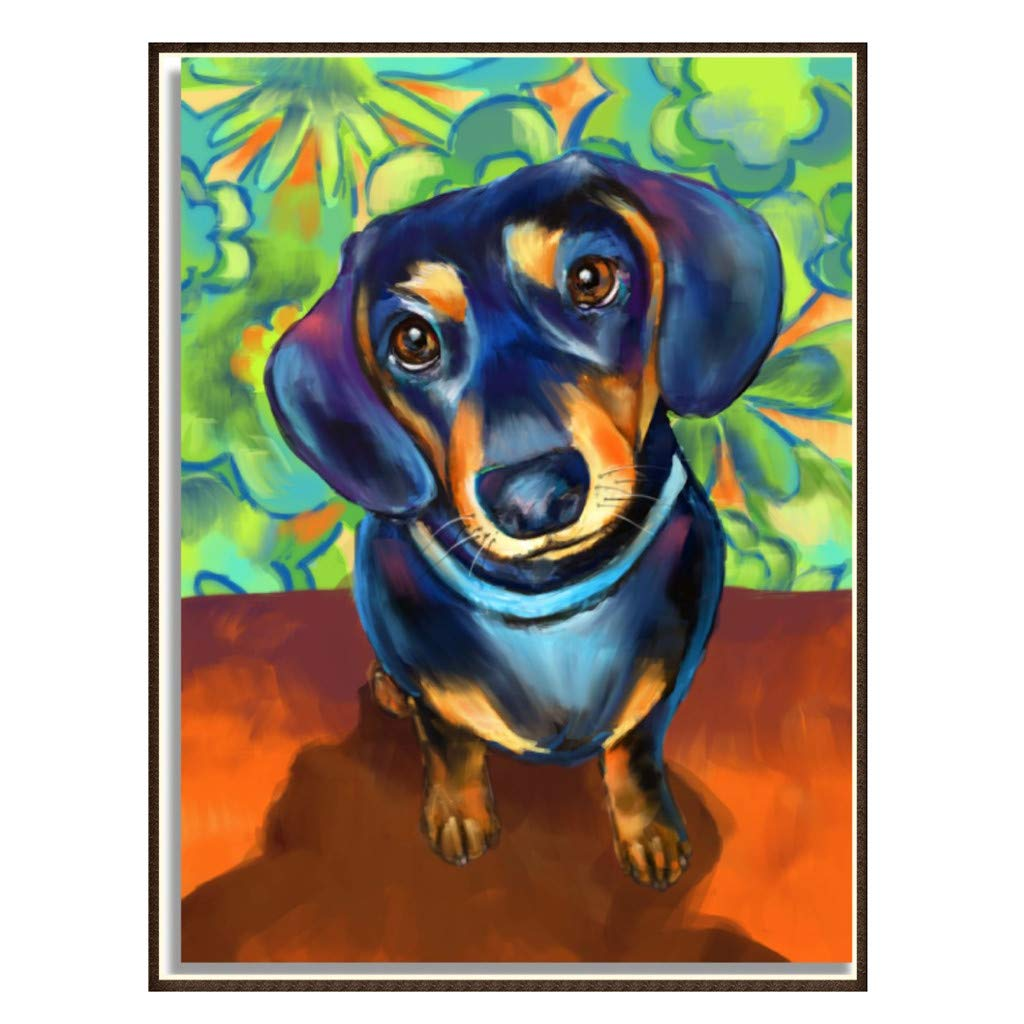 Allywit Creative 5D DIY Diamond Cute Dog Painting Cross Rhinestone Embroidery for Wall Decoration Supply Arts Craft Best Gift