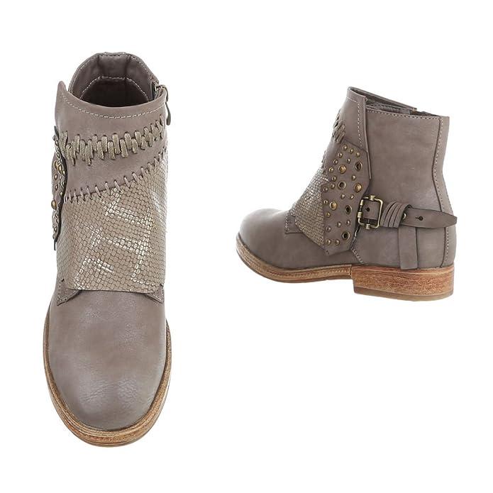 Zapatos para mujer Botas Tacón ancho Botines camperos Marrón Tamaño 41: Amazon.es: Zapatos y complementos