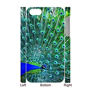 HXYHTY Diy hard Case Peacock customized 3D case For Iphone 4/4s