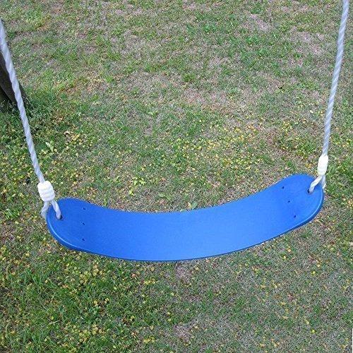 AGPtek Polymer Swing Belt Seat Replacement Children Flexible Rubber Swing Seat Swing Set Part Blue