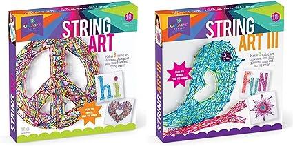 Craft-tastic Bird Edition String Art Kit Craft Kit Makes 3 Large String Art Canvases String Art Kit Craft Kit Makes 3 Large String Art Canvases Owl Edition /&