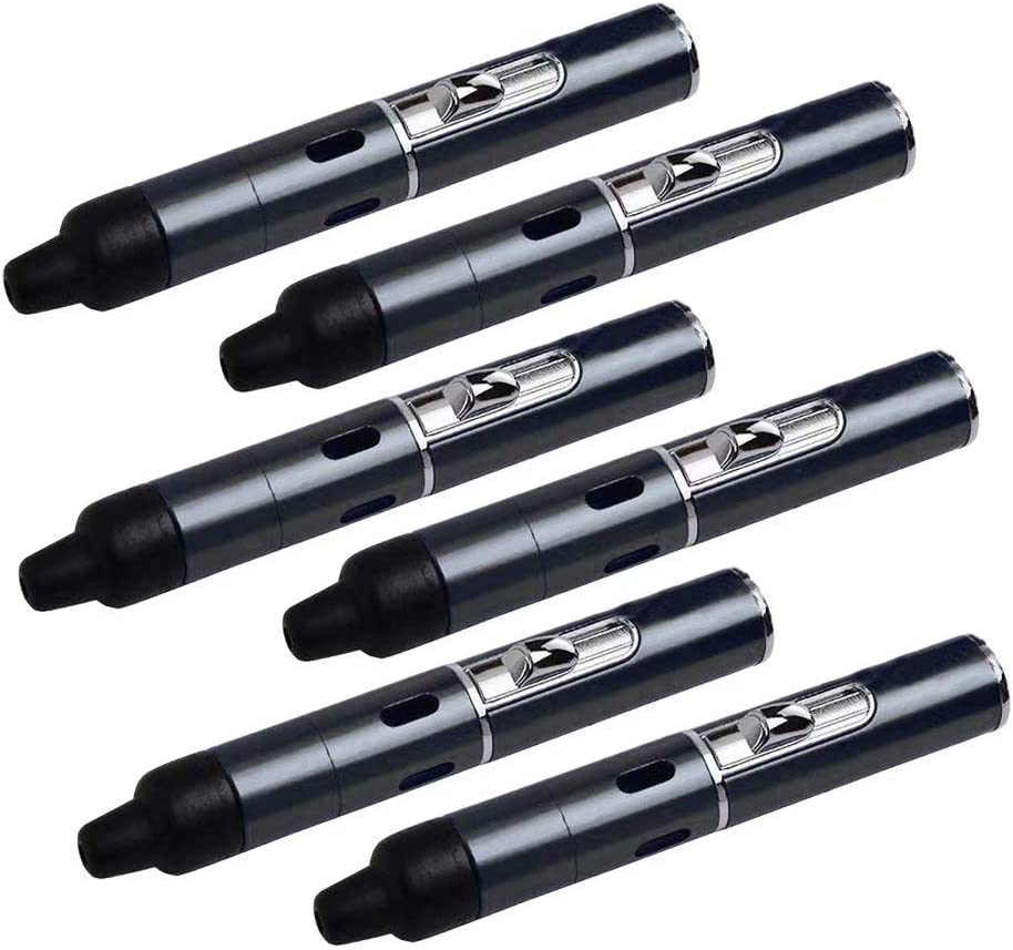 6 Pcs Detachable Build in Pipe - Advanced Idea Herb Tool Detachable (Black)