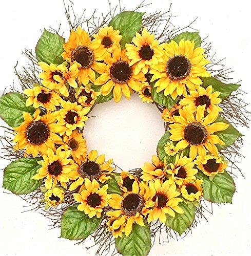 Sara's Sunflower Silk Spring Door Wreath 22 inch