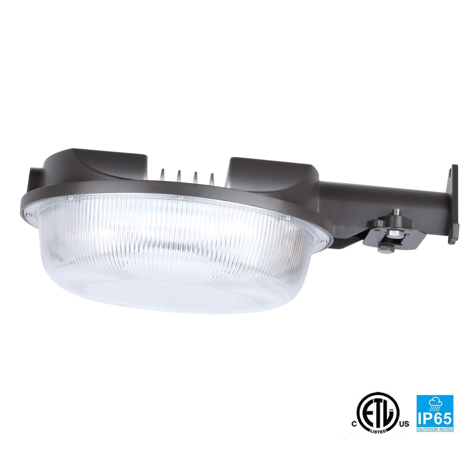 JMKMGL LED Barn Light (Photocell Included), 42W(300W Equiv.)5000K 4650lm Flood Lighting,110-277VAC,Dusk to Dawn Yard Lights for Outdoor Security,IP65 Rated,5-Year Warranty(42W)