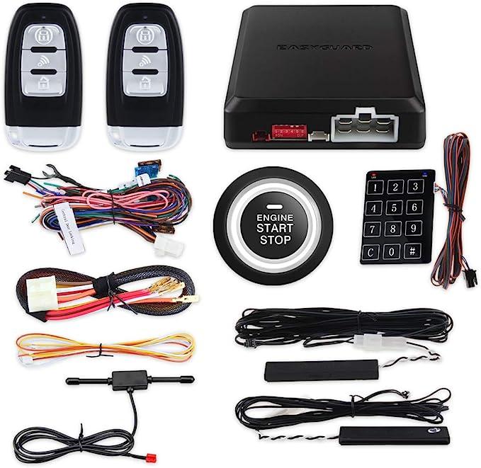 Easyguard Ec002 P2 Smart Key Rfid Pke Auto Alarmanlage Auto Start Motor Stop Taste Touch Passwort Eingabe Rolling Code Dc 12v Auto