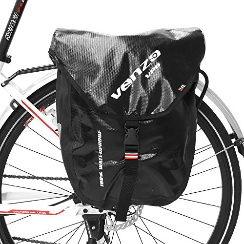 Venzo 600D Polyeste Waterproof Bike Bicycle Rear Pannier Bag