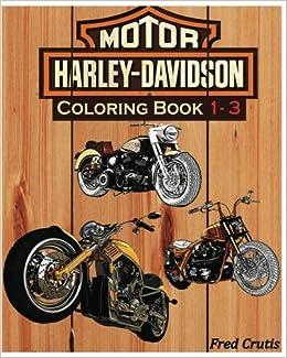 Amazon.com: Motor : Harley-Davidson Coloring Book 1 - 3: Harley ...