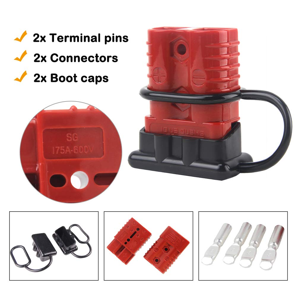 Mophoto Battery Quick Disconnect Connector Kit Connect Winch Wire Harness Plug For Recovery