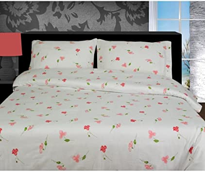 Luxury 4-PC 100/% Brushed Cotton Thermal Flannelette Sheet Set In All Sizes