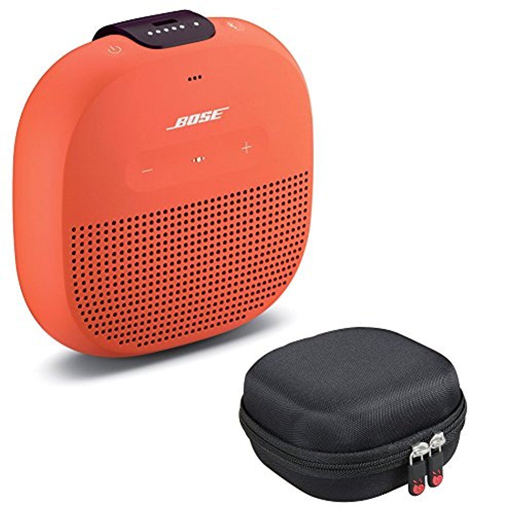 Bose SoundLink Micro Bluetooth Speaker, Bright Orange, with Protective Hardshell Travel Case by Bose