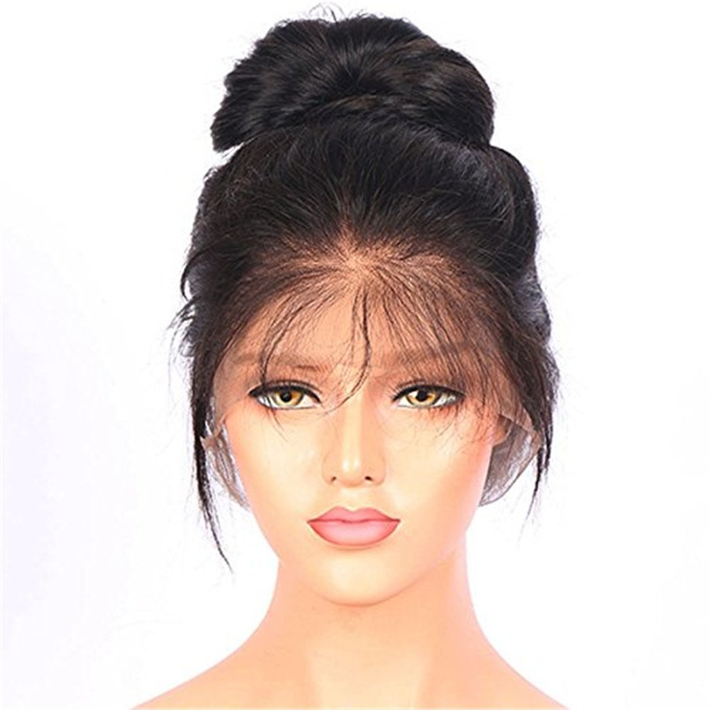 Nobel Hair 150% density 360 Lace Frontal Wigs Pre Plucked Straight Brazilian Remy Human Hair Full Frontal Lace Wigs with Baby Hair for Women Natural Color 18Inch by Nobel Hair (Image #2)
