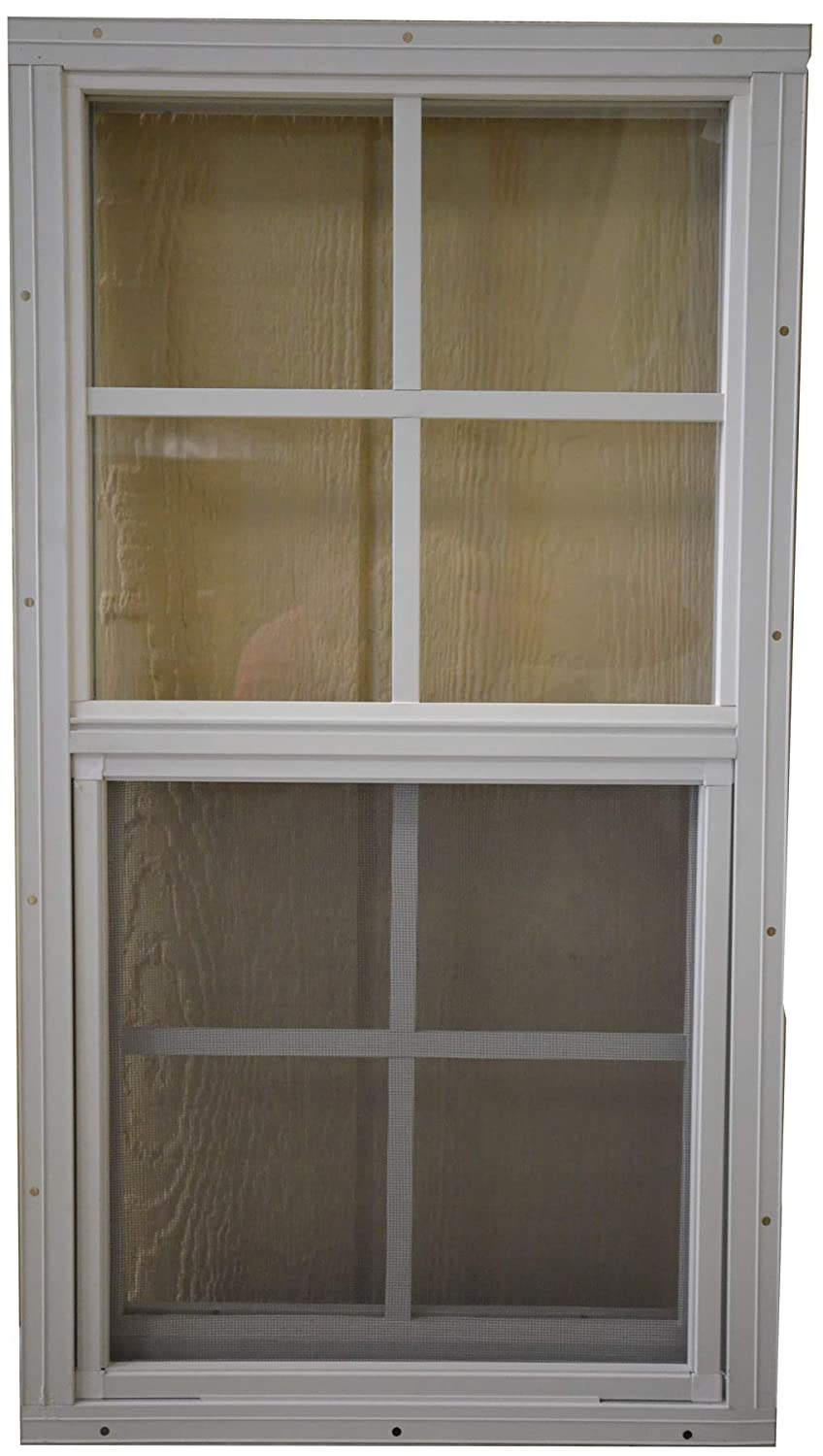 SHED PLAYHOUSE WINDOW-14X27-WHITE-J-LAP OUTDOOR PLAY AND STORAGE