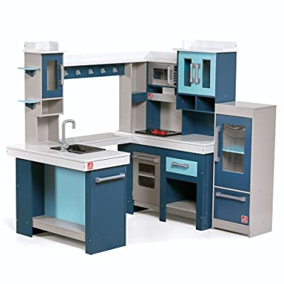 Step2 Grand Walk-in Wooden Kitchen | Large Wood Play Kitchen & Toy Accessories Set | Wood Play Kitchen for Kids: Toys & Games