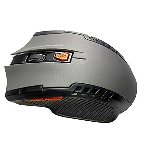 for Windows Mac Linux Vista Macbook 1200 dpi 2.4GHz Ergonomic Optical Scroll Mouse Gray Super Energy Saving 88AMZ Lightweight Wireless USB Mouse