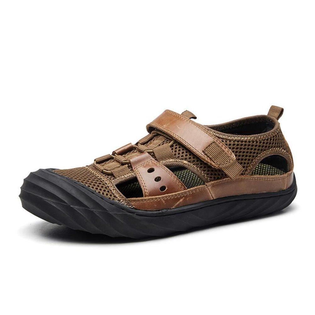 Männer Freizeit/Outdoor Sandaleen Sommer Comfort Beach Wanderschuhe Herren Breathable Casual Schuhe (Farbe : Braun, Größe : 42)