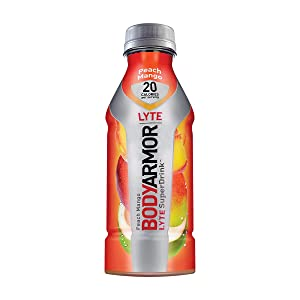 BodyArmor LYTE SuperDrink, Electrolyte Sport Drink, Peach Mango 16 Oz (Pack of 48)