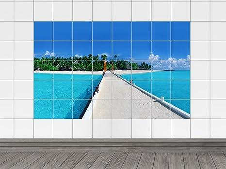 Piastrelle adesivo piastrelle immagine isola con vista mare per