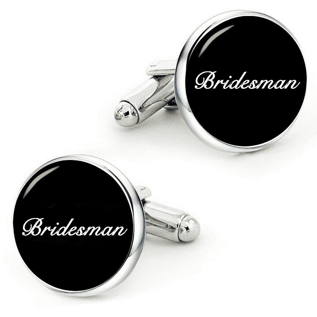 Kooer Bridesman Cufflinks Handmade Custom Personalized Wedding Cuff Links Cufflinks Wedding Jewelry (bridesman)