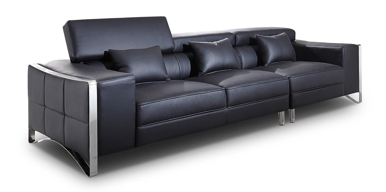 echtleder sofa schwarz latest sitzer sofa mit federkern puzzle sitzer in echtleder schwarz mit. Black Bedroom Furniture Sets. Home Design Ideas
