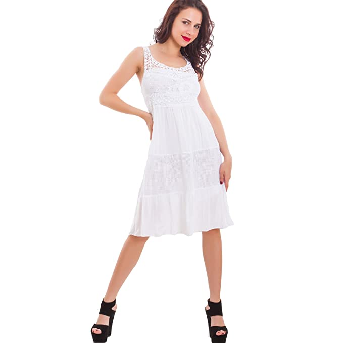 79956a6b51e4 Toocool - Vestito Donna Mini Abito Corto Pizzo Ricamo Paillettes Estivo  Sexy Nuovo CJ-2603  Taglia Unica
