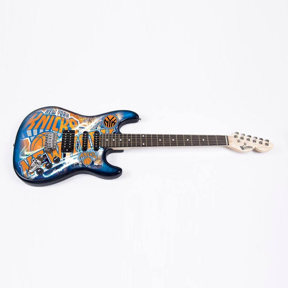 NBA New York Knicks NorthEnder Guitar, 39'' x 13'', Maple,39-Inch by 13-Inch,Blue