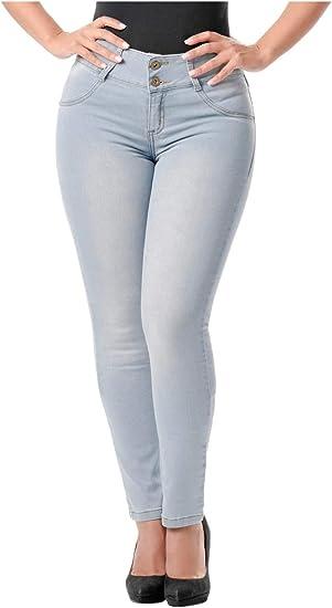 Lowla Pantalones De Mujer Levanta Gluteos Skinny Jeans Colombianos Push Up Amazon Com Mx Ropa Zapatos Y Accesorios