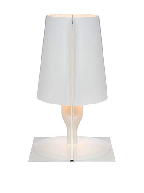 Kartell Take Table Lamp Transparent Blue, polycarbonate, white, 18 ...