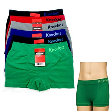 Amazon.com: 6 Knocker Boys Boxer Shorts Seamless Briefs Spandex ...
