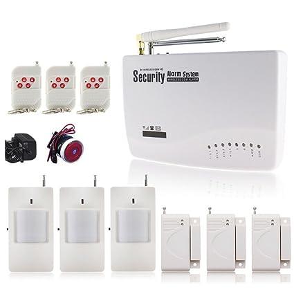 Nueva doble antena 433 MHz Wireless Wired Zona de Defensa GSM Home Antirrobo Seguridad Sirena de Alarma Sensor de control remoto