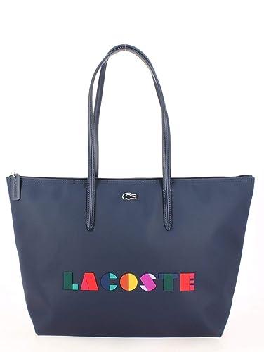 check-out 325de 83a23 Grand Sac Shopping LACOSTE Color Block Bleu: Amazon.fr ...