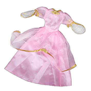 Princesa Doll Noble vestido de novia (golden-trimmed 9,8 pulgadas, color