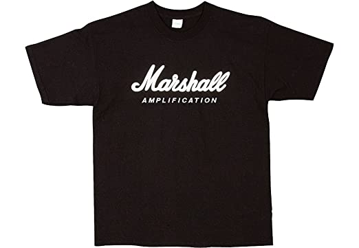 Marshall Logo Tee Shirt - Black, Medium