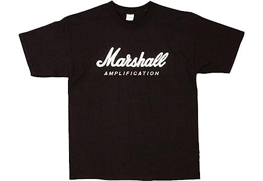 Marshall Logo Tee Shirt - Black, Medium