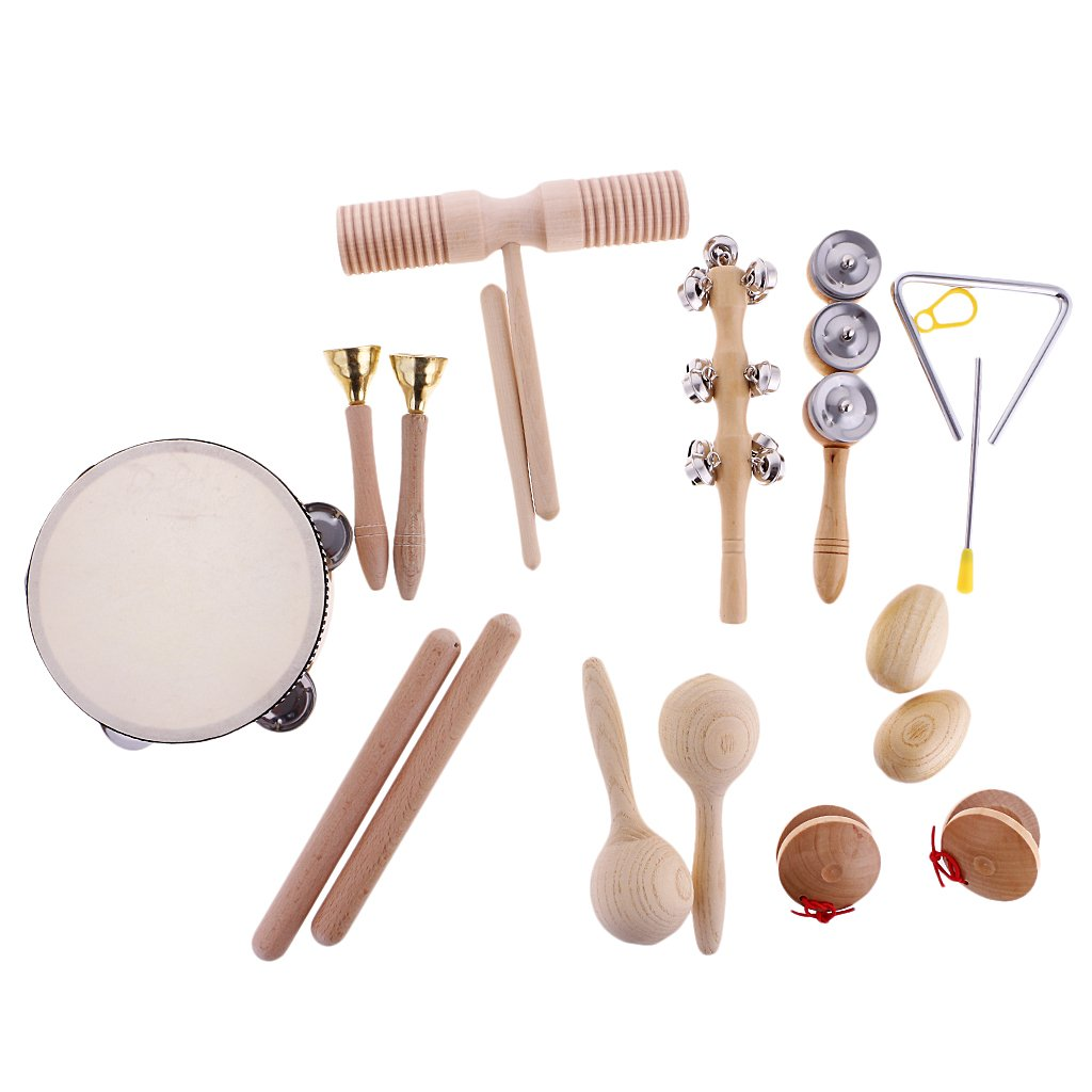 Jili Online Hand Percussion Set Shaker Bell Sand Maraca Eggs Hammer Shaker Sound Guiro Rhythm Stick Wooden Eudcational Toys 4334200471
