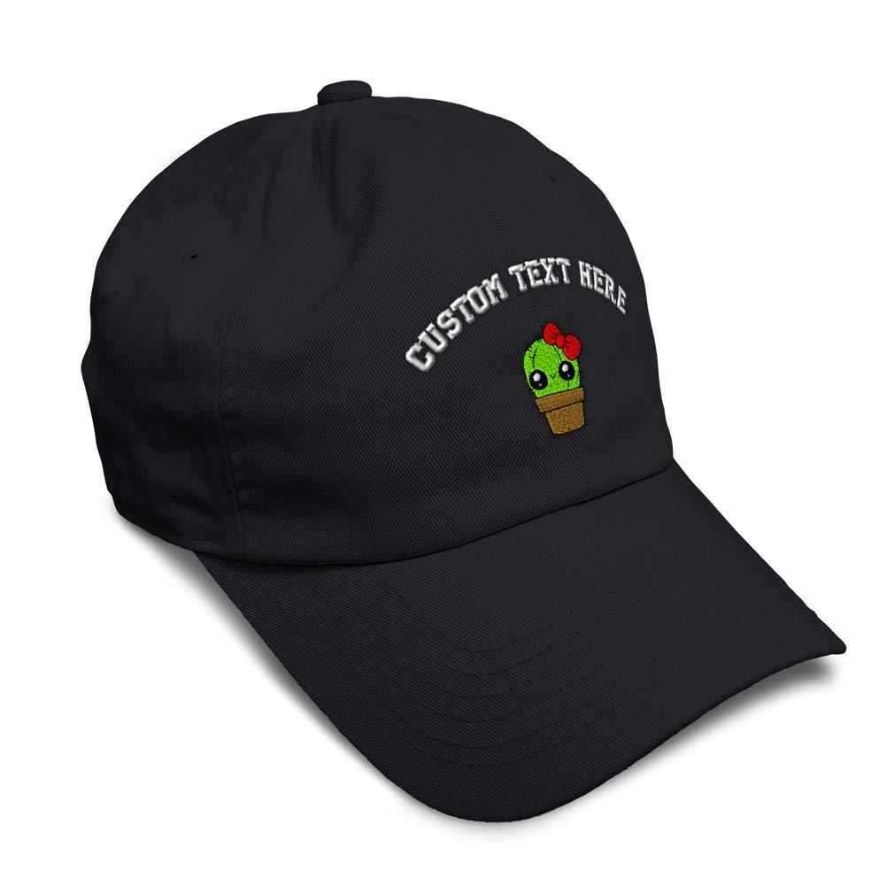 Custom Soft Baseball Cap Girly Cactus Embroidery Dad Hats for Men /& Women