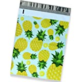 25 Pack of Mighty Gadget (R) Hand Painted Pineapples Designer Poly Mailers by Morgan Lui - 10x13 inch Shipping Envelopes with 2.35 mil Thickness