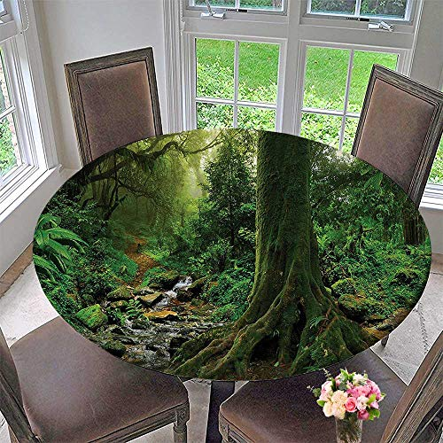 Mikihome Chateau Easy-Care Cloth Tablecloth Rain Forest with