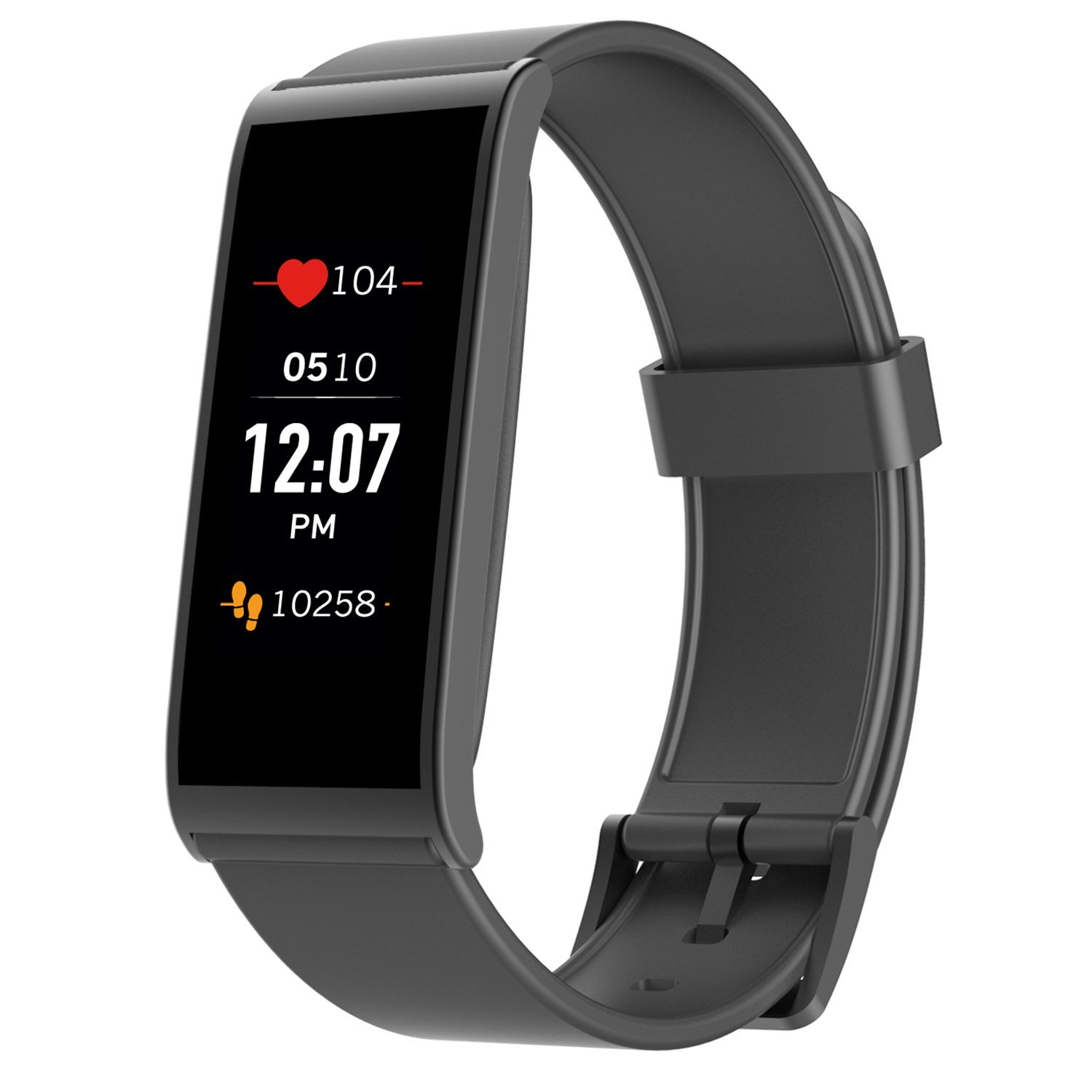 MyKronoz ZeFit4 HR Fitness Activity Tracker with Heart Rate Monitoring, Color Touchscreen & Smart Notifications - Black/Black - NEW Never Opened Box - Certified Renewed