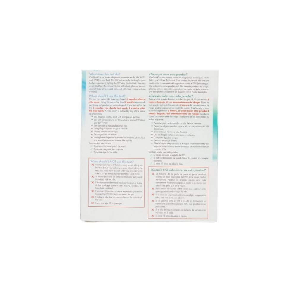Oraquick Oral In Home Saliva Test For Hiv. (Completely Private) The 1St Test You Can Read Yourself. No Outside Facilities Involved. (2 PACK) by CARDINAL HEALTH - PHARMA