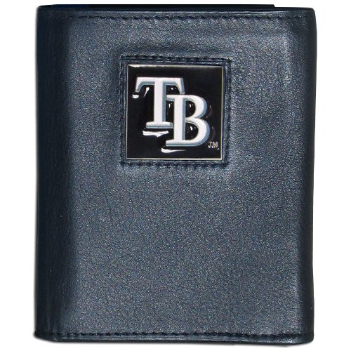 Siskiyou MLB Tampa Bay Rays Leather Tri-fold Wallet (Tampa Bay Rays Pictures)