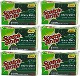 Scotch-Brite Heavy Duty Scrub Sponge, 18 Sponges (6 x 3 Count Packages)