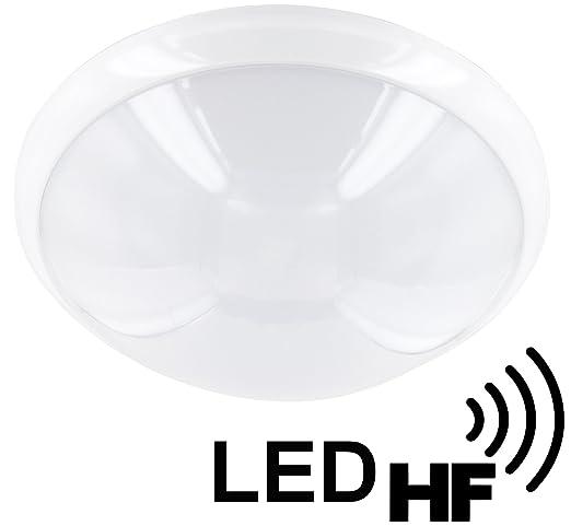 3 opinioni per Plafoniera LED IP44 con sensore di movimento, 16 W, 1200 lm, 300 mm- luce diurna