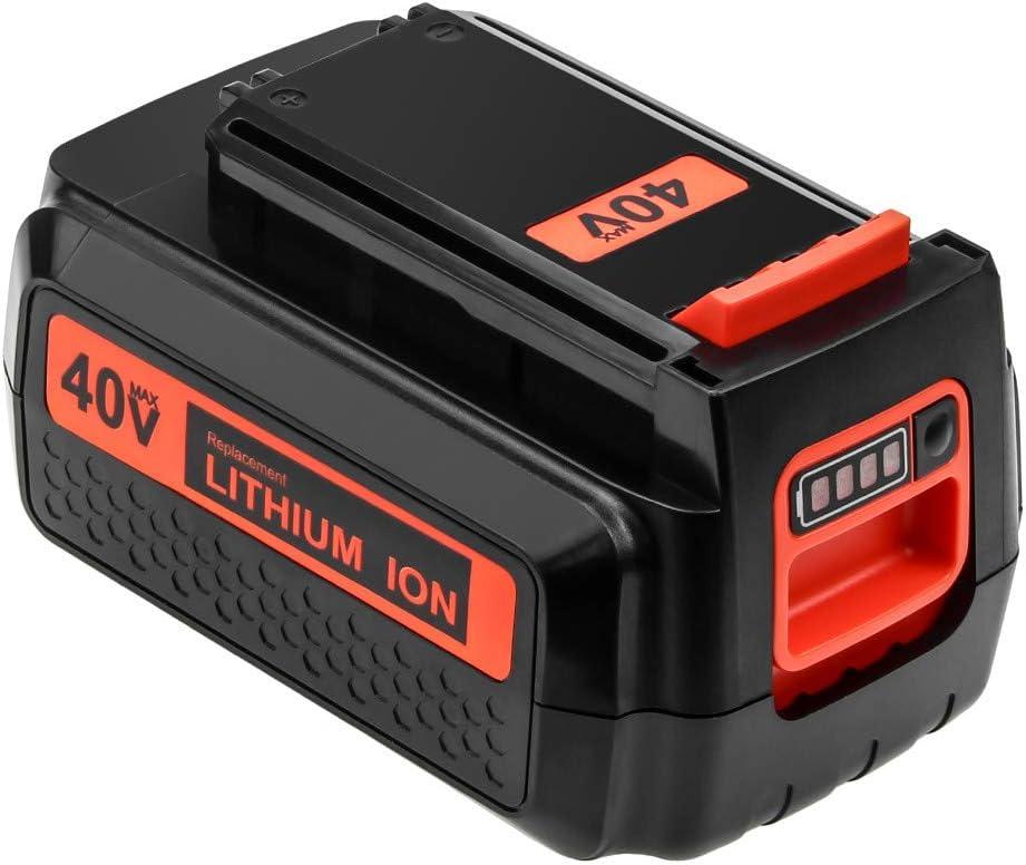 40 Volt MAX 3.0Ah LBX2040 Replacement Battery Compatible with Black and Decker 40V Battery Lithium-ion LBXR36 LBXR2036 LST540 LCS1240 LBX1540 LST136W