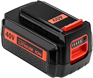 40 Volt MAX 3.0Ah LBX2040 Replacement Battery Compatible with Black and Decker 40V Battery Lithium-ion LBXR36 LBXR2036 LST540 LCS1240 LBX1540 LST136W