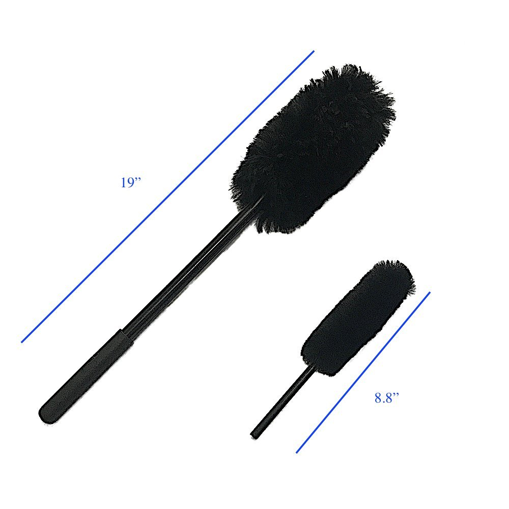 DUMI D15B D820 Wheel Brushes Kit Car Brush, 100% Sheepskin, Soft, Dense Fibers Clean Wheels Safely JINAN CARSTAUTO ACCESSORIES CO. LIMITED.