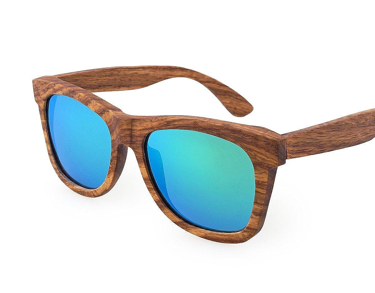 941805f418 Amazon.com  TORMROAD(TM) Zebra Wood Sunglasses For Men And Women Polarized  Lenses UV400 With Wooden Box (Brown