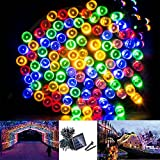 Solarmks DZ-0200 Party String Lights 200 Led Outdoors Solar String Lights for Patio , Multi-Color