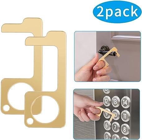 Kshineni Stylus Keychain Tool Non Contact Door Opener Reusable Portable Healthy Handheld Keychain Tool Avoid Dirty Environmental